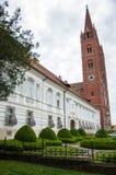 Roman Catholic Cathedral de San Pedro y de San Pablo en Djakov fotos de archivo libres de regalías