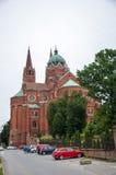 Roman Catholic Cathedral de San Pedro y de San Pablo en Djakov Imágenes de archivo libres de regalías