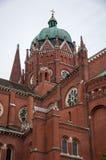 Roman Catholic Cathedral de San Pedro y de San Pablo en Djakov imagenes de archivo