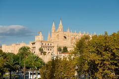 Roman Catholic Cathedral i Palma Royaltyfria Foton