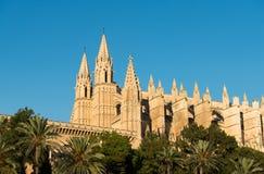 Roman Catholic Cathedral i Palma Arkivbilder