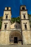 Roman Catholic Cathedral impressionnant de saint Tryphon, Kotor, Monténégro photographie stock