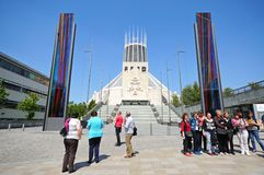 Roman Catholic Cathedral, Liverpool. Royalty Free Stock Photography