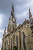 Roman Catholic Cathedral The Name av Mary, Novi Sad Royaltyfri Fotografi