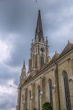 Roman Catholic Cathedral The Name av Mary, Novi Sad Arkivbild