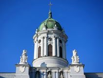 The Roman Catholic Cathedral is part of the minorite compound, built in the center of Arad city. The Church is dedicated to Saint Anthony of Padua. The church Stock Image