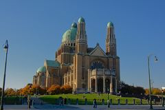 National Basilica of the Sacred Heart, Koekelberg, Brussels, Belgium stock photo