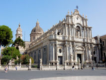 Roman Catholic Cathedral of Saint Agatha – Catania - Sicily - Italy Stock Image