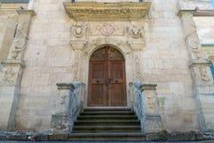Roman-Catholic Cathedral Saint Michael inside the Citadel Alba-Carolina in Alba Iulia, Romania.  royalty free stock images