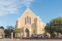 Roman Catholic Cathedral of St Augustine in Upington. UPINGTON, SOUTH AFRICA - JUNE 12, 2017: The Roman Catholic Cathedral of St Augustine in Upington, a town in royalty free stock photos