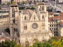 Roman Catholic Cathedral von Heilig-Jean in Lyon Frankreich Lizenzfreies Stockfoto