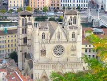 Roman Catholic Cathedral von Heilig-Jean in Lyon Frankreich Stockbild