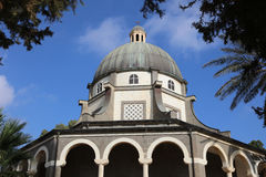 Roman Catholic Chapel at Mount of Beatitudes Stock Photos