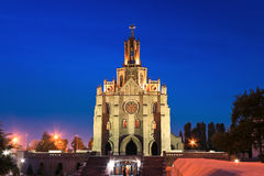 Roman catholic church. (kostel) in Tashkent at Night Royalty Free Stock Photo
