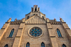 Roman catholic church. (kostel) in Tashkent Royalty Free Stock Photos