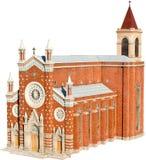 Roman Catholic Church. (Venetian Neo-Gothic Style) Isolated On White stock photo