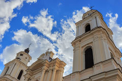 Roman-Catholic church. On background heaven royalty free stock images