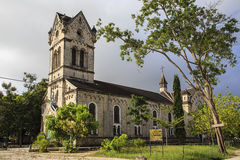 Roman catholic church - Bagamoyo. Roman catholic church at the Holy Ghost Mission, built 1914 in Bagamoyo, Tanzania Stock Photos