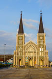 Roman Catholic Church in Chang town, Chanthaburi, Thailand. On sunset Stock Images