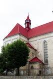 Roman Catholic Church de Saint Peter e Paul em Berezhany. Ucrânia. Fotografia de Stock