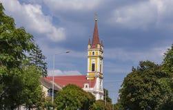 Roman Catholic Church of the Holy Guardian Angels in Kanjiza, Se. View at Roman Catholic Church of the Holy Guardian Angels in Kanjiza, Serbia Stock Photography
