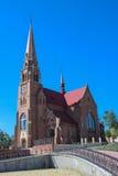 Roman Catholic Church i Cacica, Rumänien arkivbild