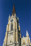 Roman Catholic Church i Novi Sad, Serbien Arkivfoton