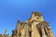 Roman Catholic church on the island of Gozo, Malta. The National Shrine of the Blessed Virgin of Ta' Pinu on the island of Gozo, Malta Stock Photography
