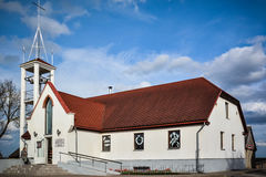 Roman Catholic Church in Kandava, Letland Stock Fotografie