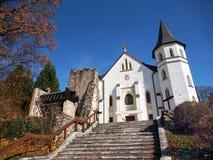 Roman-Catholic Church in Mosovce, Slovakia stock image