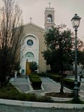 Roman Catholic Church. Rimini, Italy. Ancient catholic church. stock photo