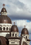 Roman catholic church in Romania. Tirgu-Mures stock photography