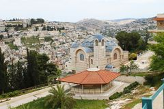 Roman Catholic Church of Saint Peter in Gallicantu, Jerusalem, Israel royalty free stock image