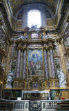 Roman Catholic church San Carlo al Corso Stock Image