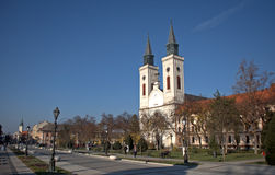 Roman catholic church, Sombor, Serbia. Roman catholic church in Sombor, Serbia Royalty Free Stock Photos