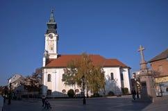 Roman catholic church, Sombor, Serbia. Roman catholic church in Sombor, Serbia Royalty Free Stock Image