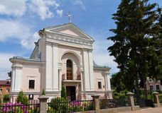 Roman Catholic Church of St. Barbara in Berdychiv Stock Image
