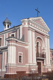 Roman Catholic Church of St. Barbara in Berdychiv, Ukraine Stock Photo