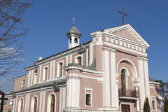 Roman Catholic Church of St. Barbara in Berdychiv, Ukraine Royalty Free Stock Photo