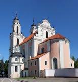 Roman Catholic  Church of St. Catherine. VILNIUS, LITHUANIA - JULY 27, 2017:  Roman Catholic  Church of St. Catherine Is located on Vilniaus street. The church Royalty Free Stock Image