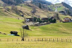 Roman Catholic Church St Nikolaus em Matrei em Osttirol, Áustria Imagens de Stock Royalty Free