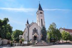 Roman Catholic Church in Tokaj, Hungary. Roman Catholic Church and square in Tokaj, Hungary Stock Images