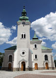 Roman catholic church at town Ruzomberok, Slovakia Stock Photography