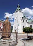 Roman catholic church at town Ruzomberok, Slovakia. Roman catholic at town Ruzomberok - Slovakia royalty free stock photos