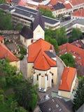 Roman Catholic Church in Trencin, Slovakia royalty free stock image