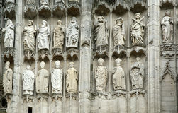 Roman Catholic Gothic cathedral in Rouen, France Stock Photography