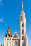 Roman Catholic Matthias Church and Holy Trinity plaque column at Fisherman`s Bastion in Budapest, Hungary, Europe Stock Photo