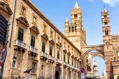 Roman Catholic Metropolitan Archdiocese de Palermo en Palermo, Italia foto de archivo