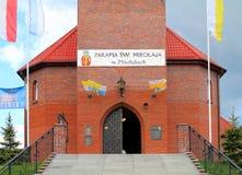 Roman Catholic Parish of St. Nicholas Mikolajki. MIKOLAJKI, POLAND — MAY 10, 2014: Roman Catholic Parish of St. Nicholas Mikolajki Stock Images
