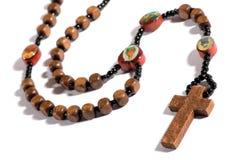 Roman Catholic rosary on white Stock Images